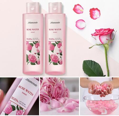Nước hoa hồng Mamonde chứa tới 90.89% là nước hoa hồng nguyên chất