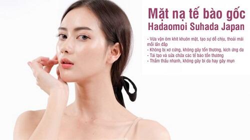 Mặt nạ tế bào gốc Hadaomoi Suhada giúp làn da căng bóng, bật tông rõ rệt
