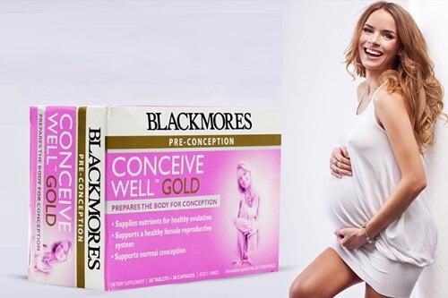 Mẹ và thai nhi đều khỏe trong suốt thai kỳ nhờ viên uống Blackmores Conceive Well Gold