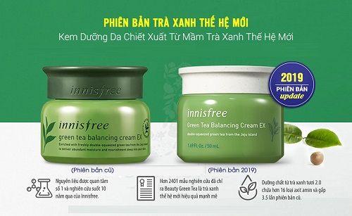 Kem dưỡng da innisfree green tea balancing cream - lựa chọn cho làn da mềm mượt, trắng sáng