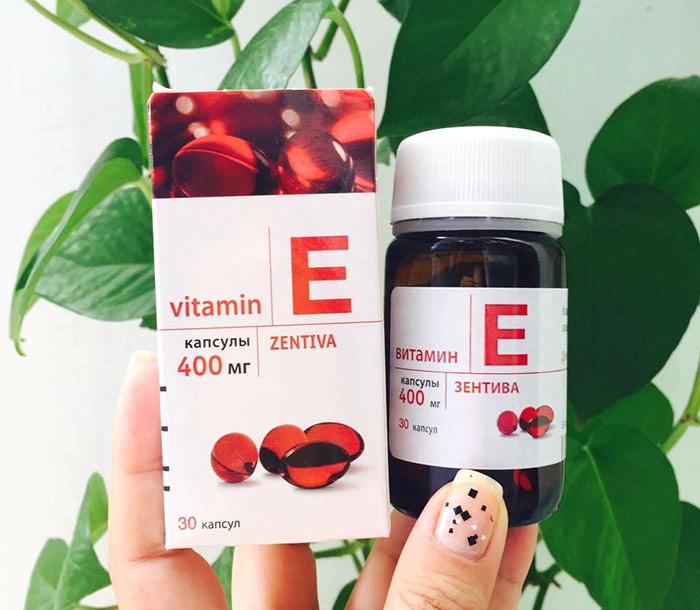 Vitamin E đỏ Zentiva 400mg của Nga Hộp 30 viên – Trắng Da Mượt Tóc ảnh 1