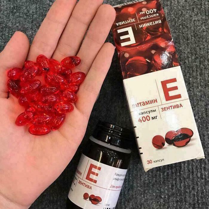 Vitamin E đỏ Zentiva 400mg của Nga Hộp 30 viên – Trắng Da Mượt Tóc ảnh 5